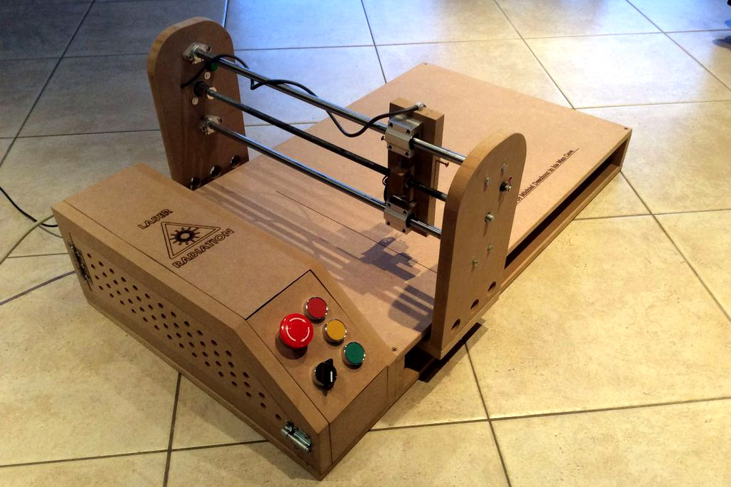 How to build an arduino powered laser engraver for