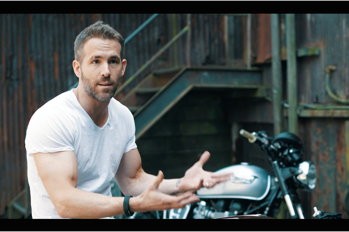 Ryan Reynolds Uses His Custom Triumph Bike To Escape The