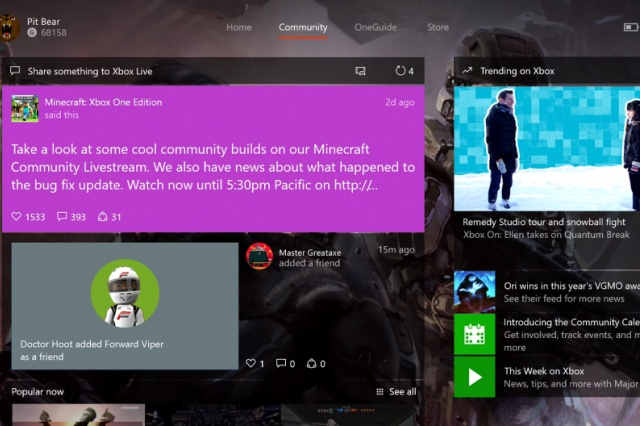 Xbox February update hits Xbox One tomorrow, Windows 10 today