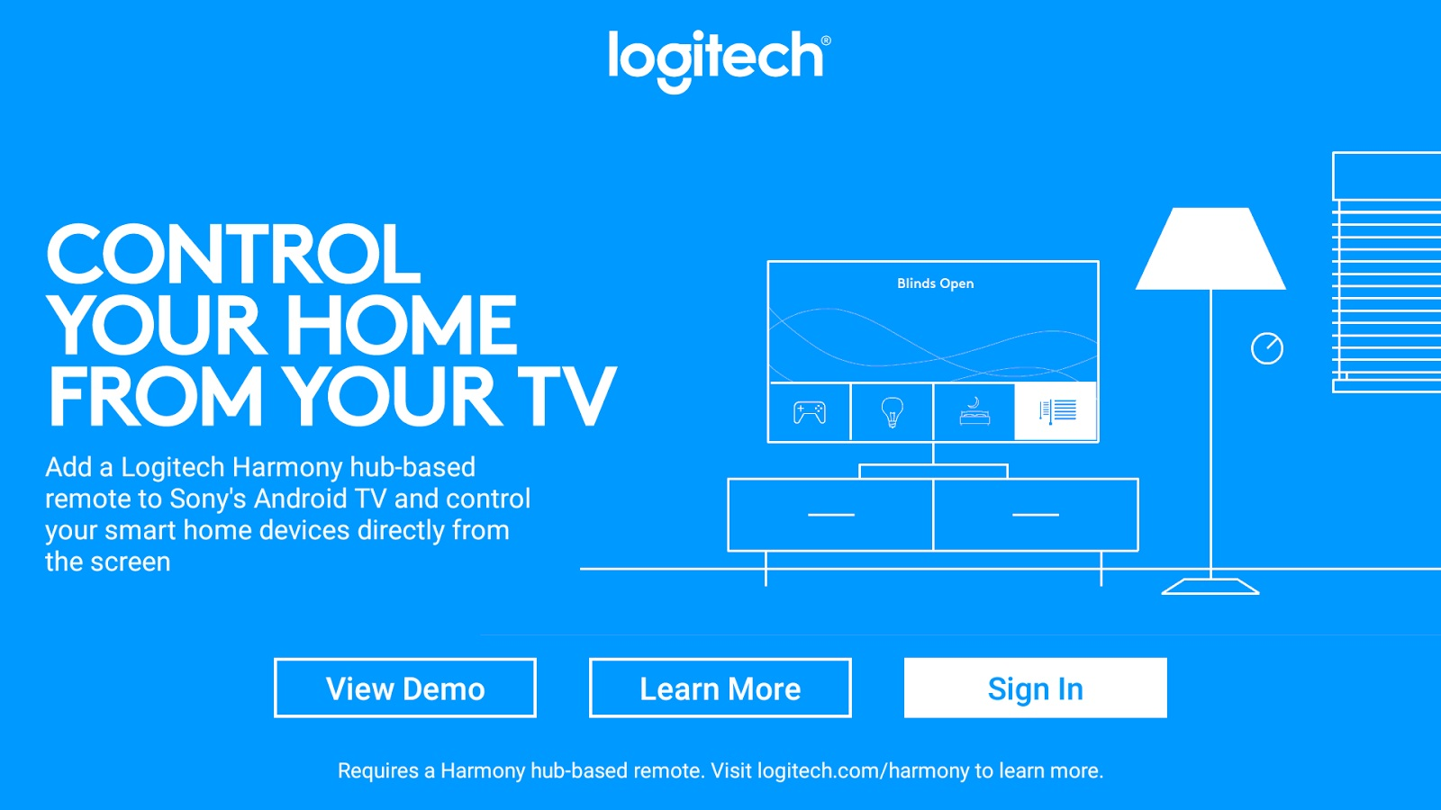 Logitech's Harmony lets you put down your phone and use your TV for smart  home control