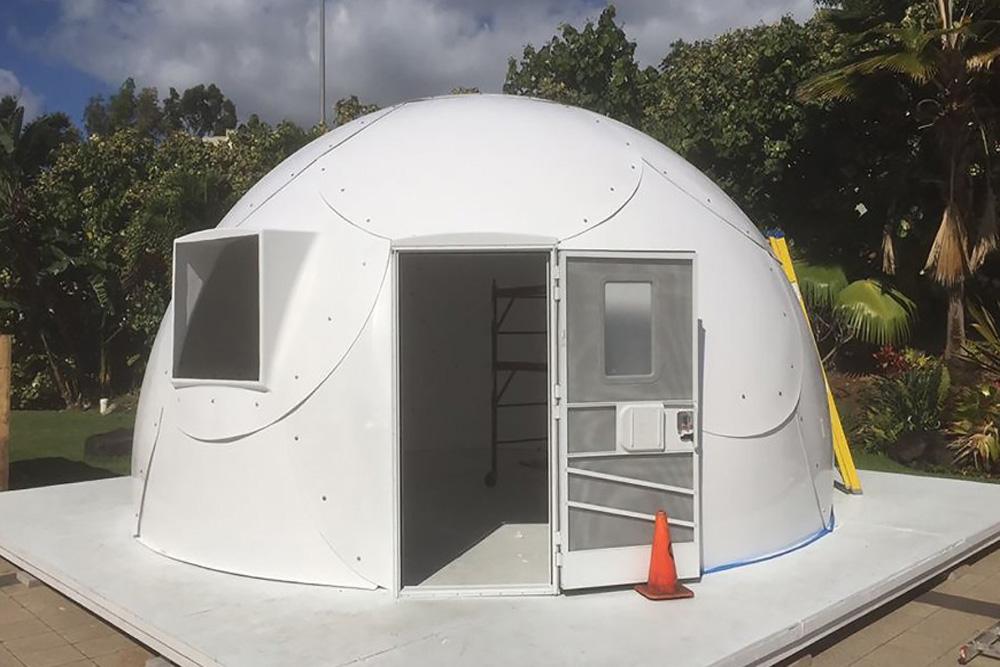 Hawaiian Church Uses Fiberglass Igloos To Help Shelter