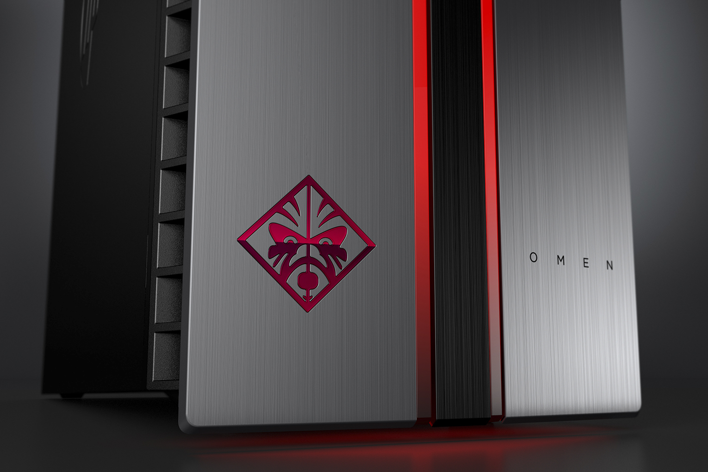 Hp notebook desktop - Hp Omen Update By Desktop Pc With Dragon Red Led Logo Detail
