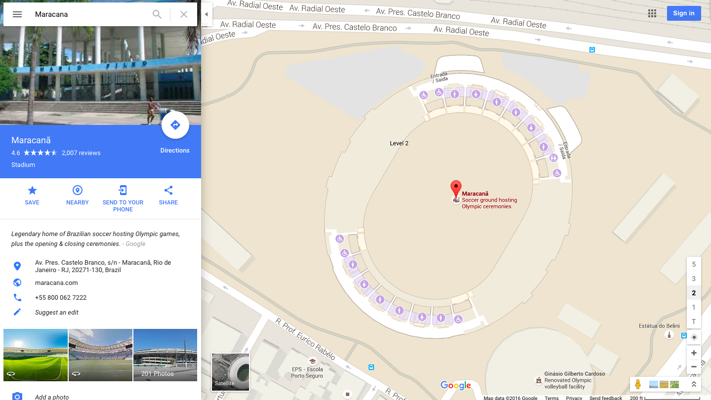 Google Lets You Explore Rio Olympic Venues With Enhanced Maps - Google map of brazil