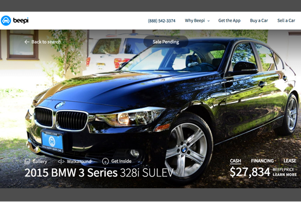 Online used-car marketplace Beepi now leases and delivers cars ...
