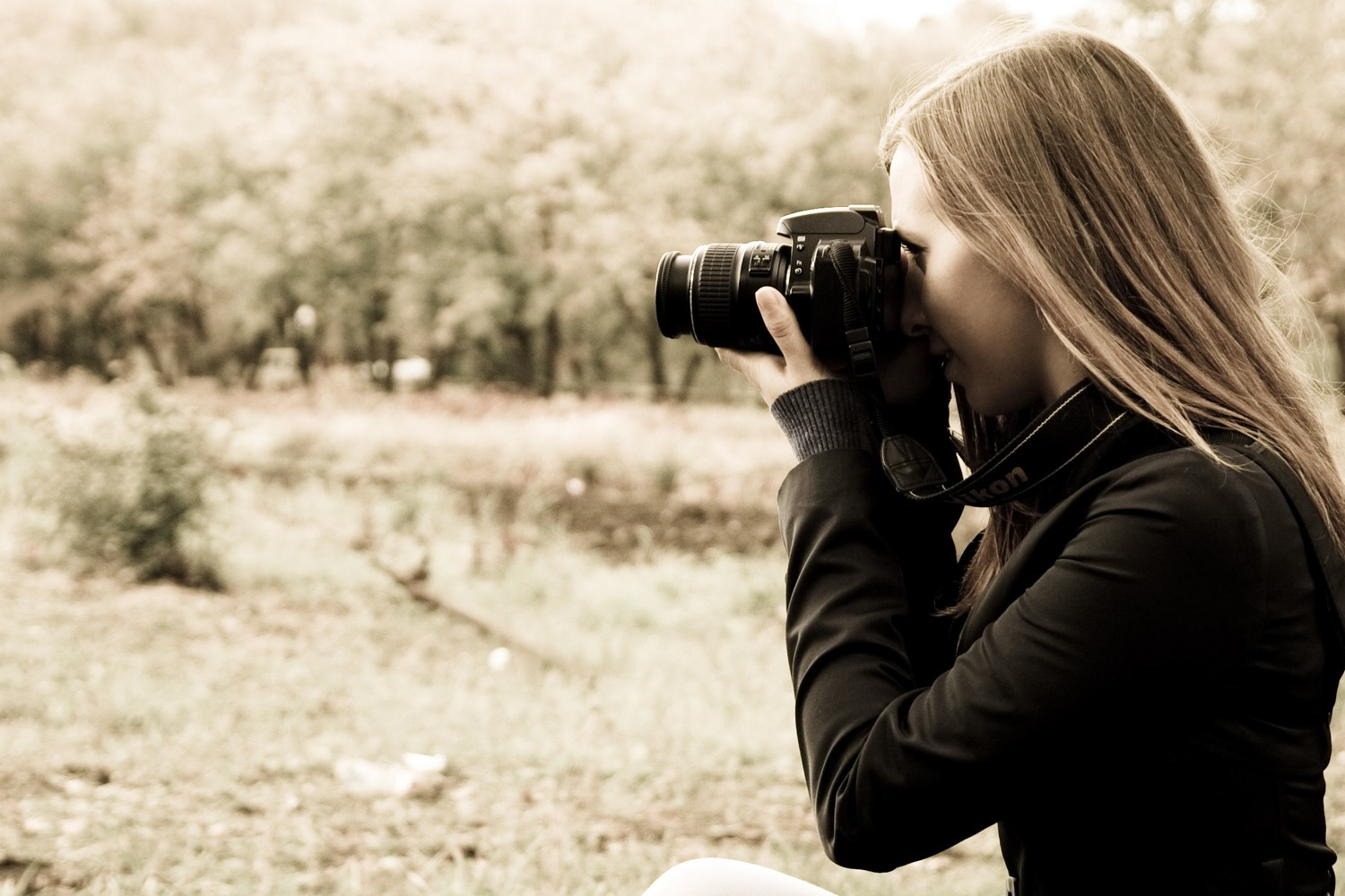 Girl photographer with canon