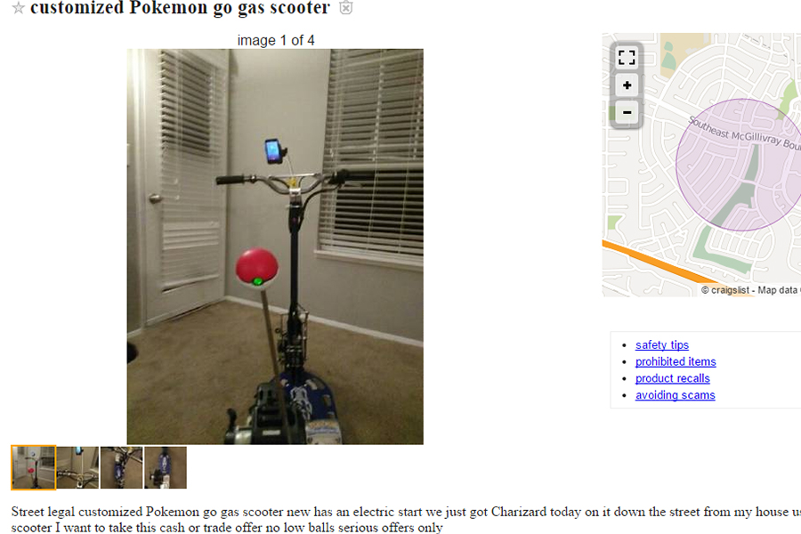 lovely gas scooter craigslist #5: pokemon go craigslist listings scooter listing