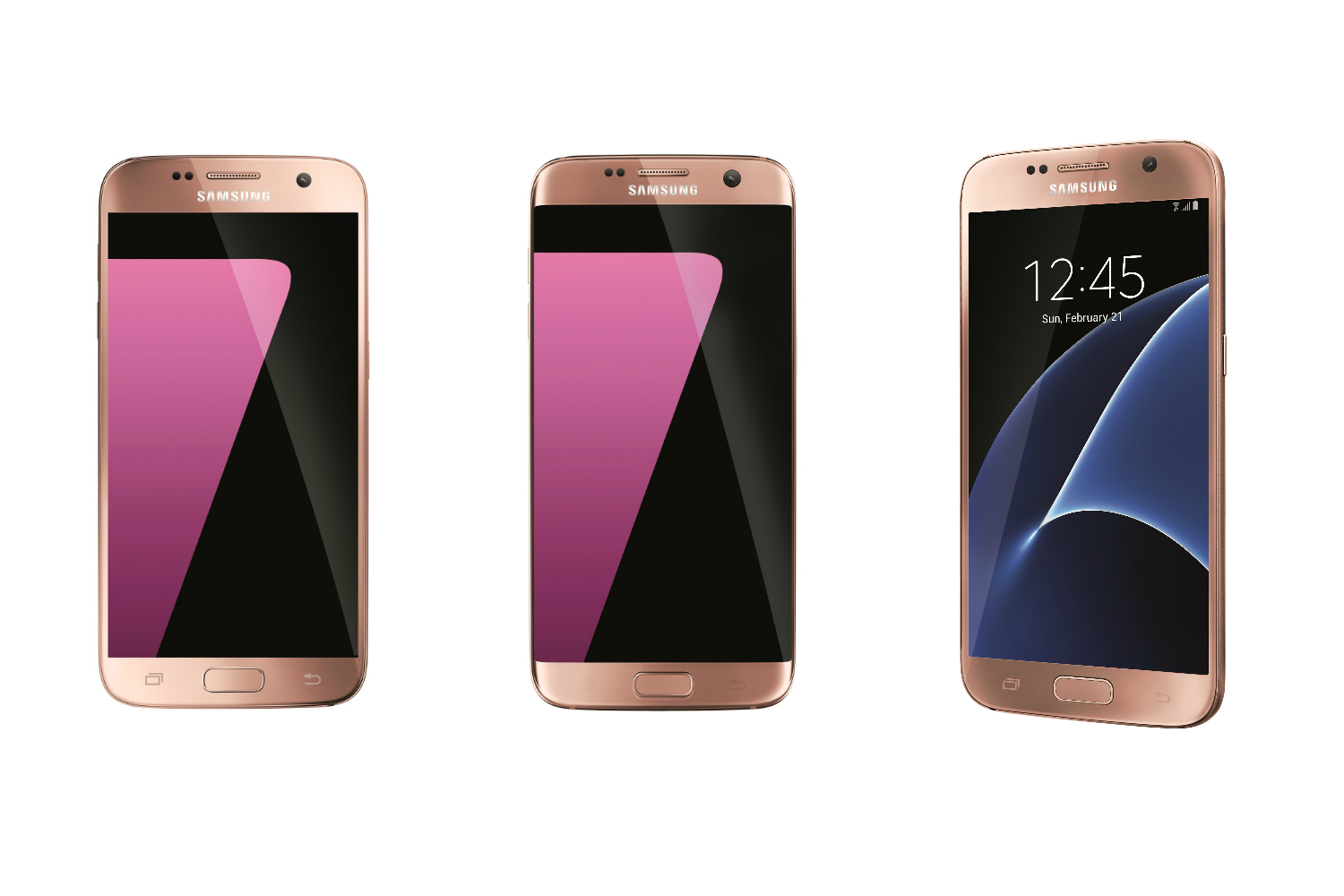 rose gold is so 2015 samsung s pink gold galaxy s7 s7 edge are now available. Black Bedroom Furniture Sets. Home Design Ideas
