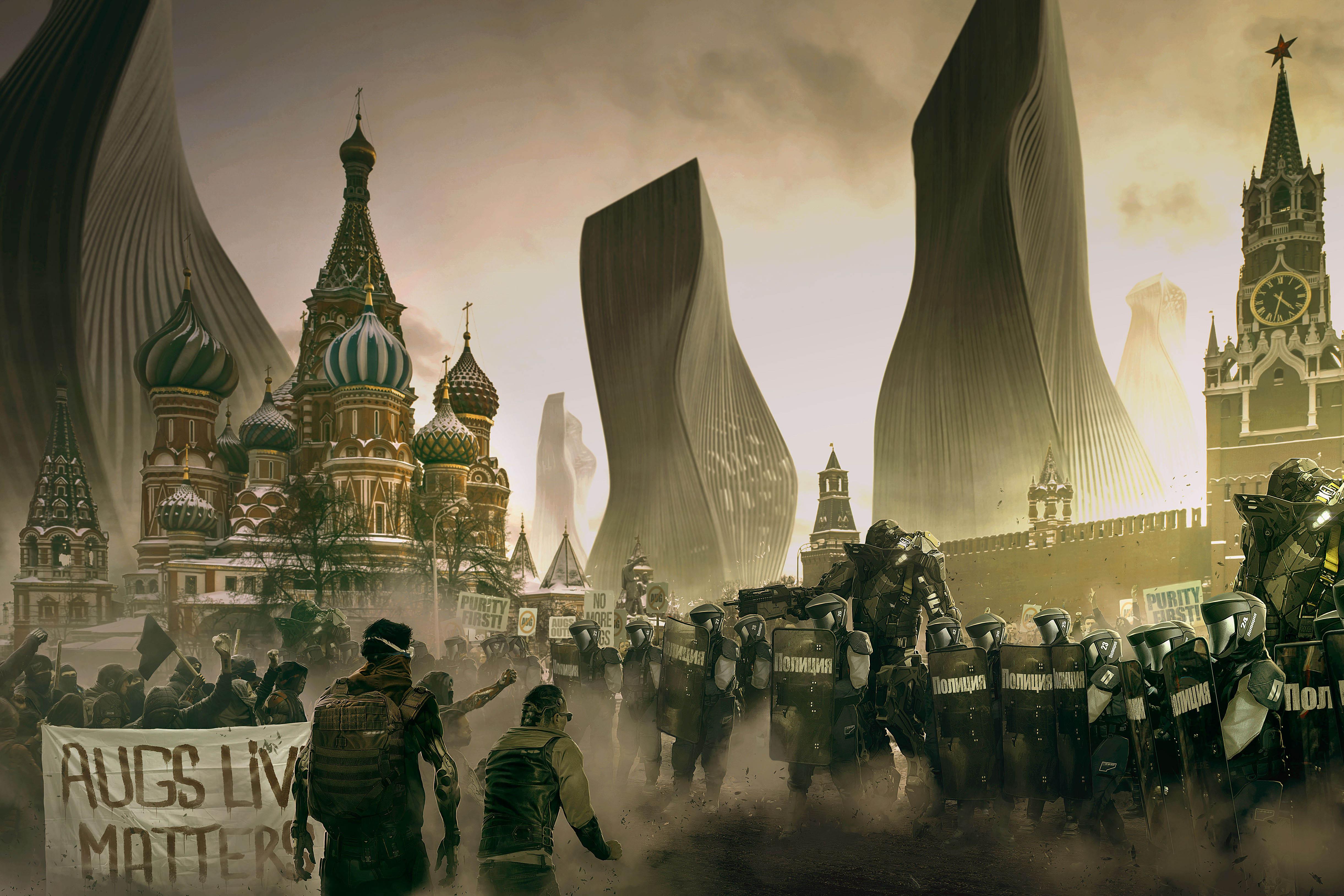 Deus Ex: Mankind Divided Art Features 'Black Lives Matter' Reference