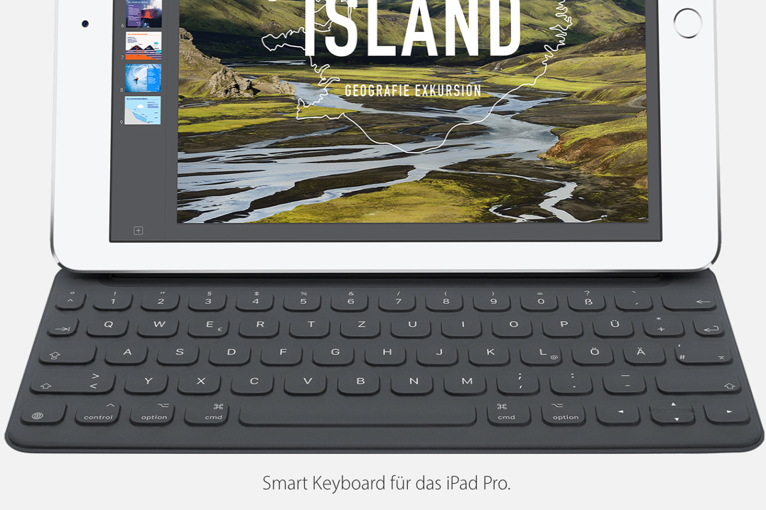 Connect Tablet To Tv >> Apple debuts international versions of the iPad Pro's Smart Keyboard