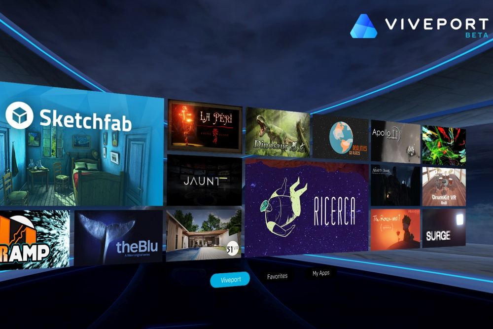 htcs viveport is an app store for virtual reality