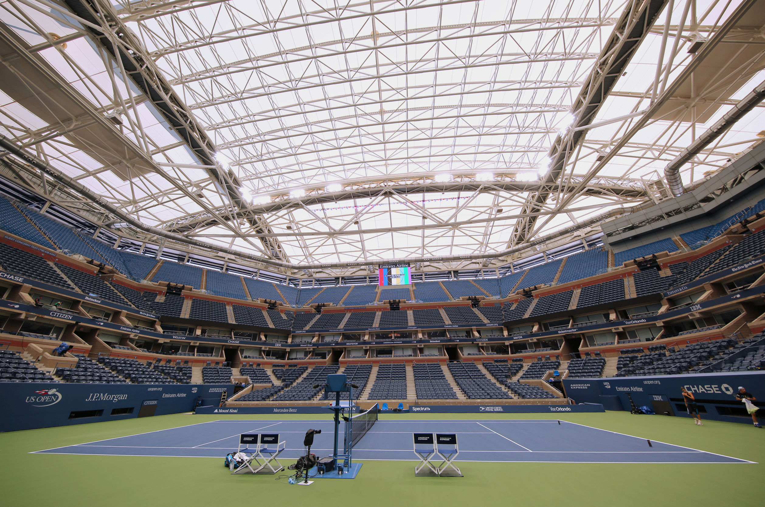 That $150 million roof at Arthur Ashe Stadium is making tennis a