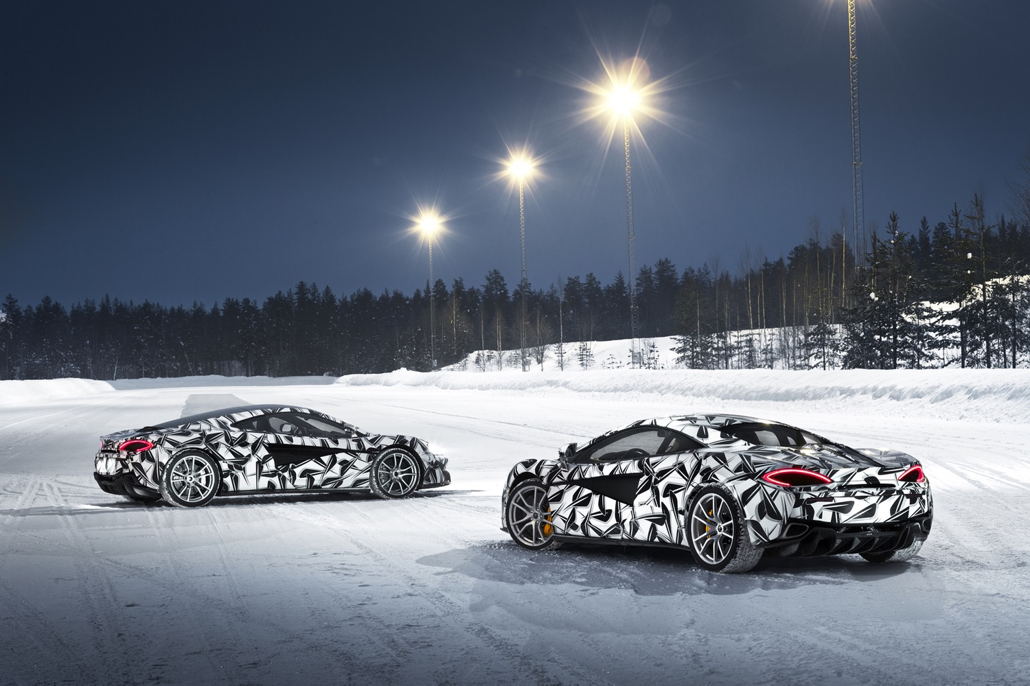 McLaren 570S Ice Driving experience in Finland - that'll be £12500