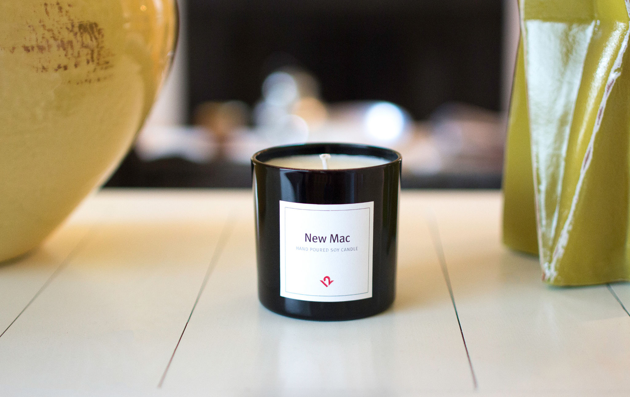 Set the mood with a candle that smells like a new Mac