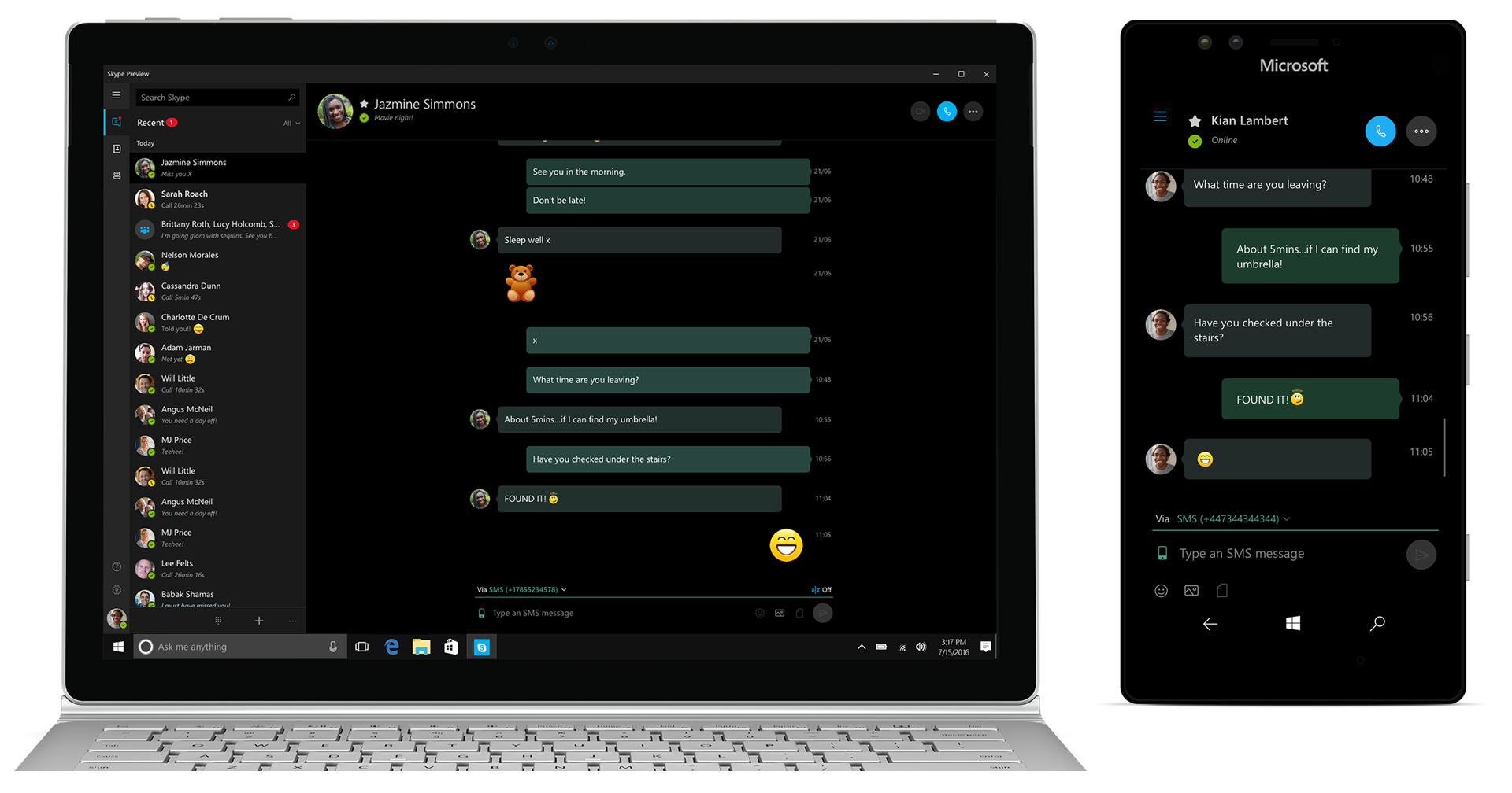 Microsoft S New Skype Preview Sms Relay Feature Only Works