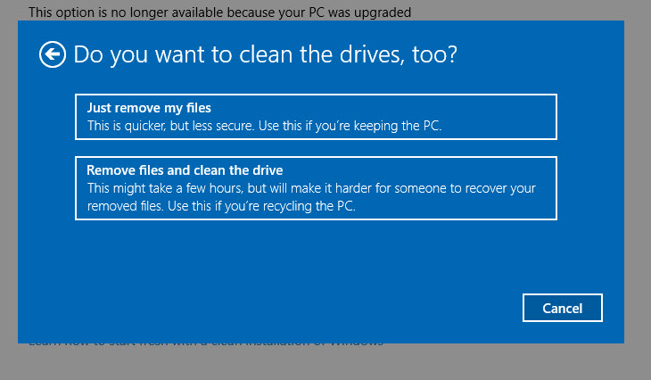 how to clean hard drive windows 10