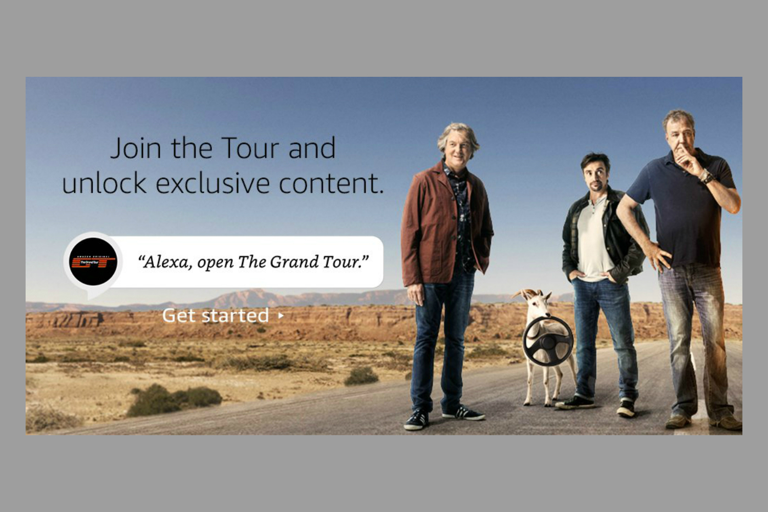 alexa gains conversational skill with the grand tour and you re invited. Black Bedroom Furniture Sets. Home Design Ideas