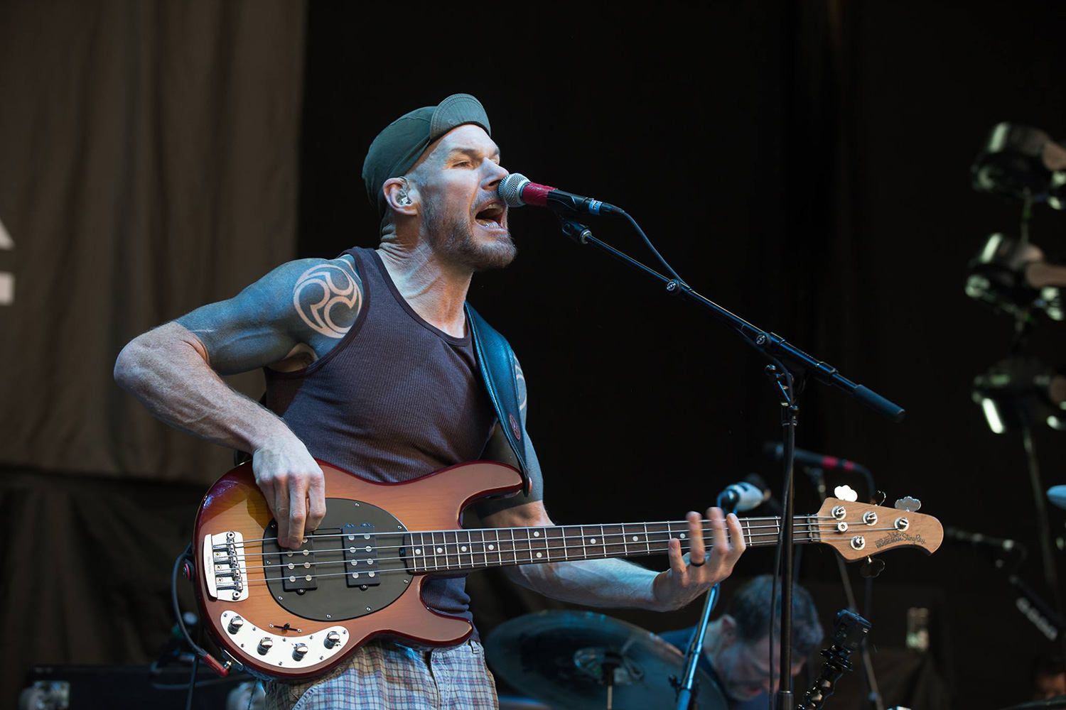 Rage Against the Machine bassist Tom merford picks up