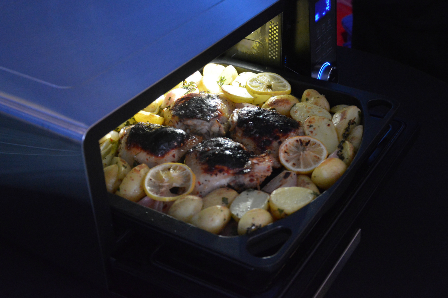 Panasonic?s countertop induction oven has dinner ready in a flash
