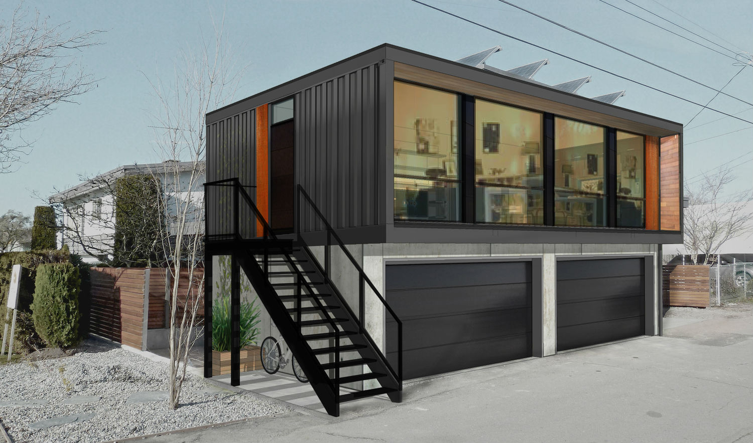 honomobo shipping container homes are stackable and luxurious digital trends. Black Bedroom Furniture Sets. Home Design Ideas