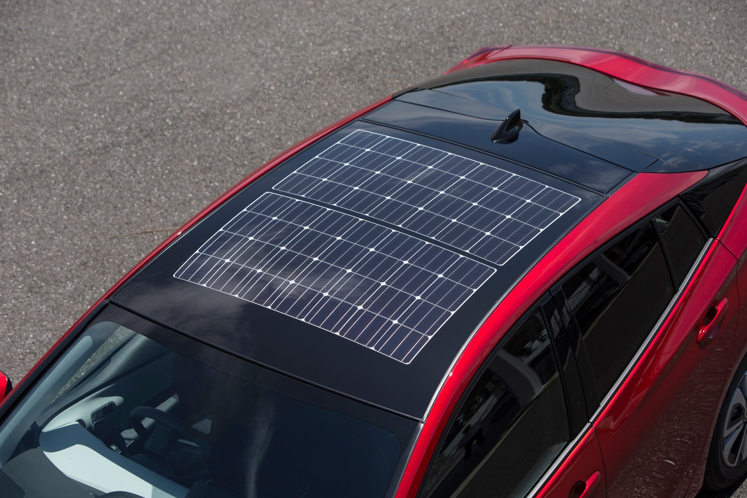 solar powered led car