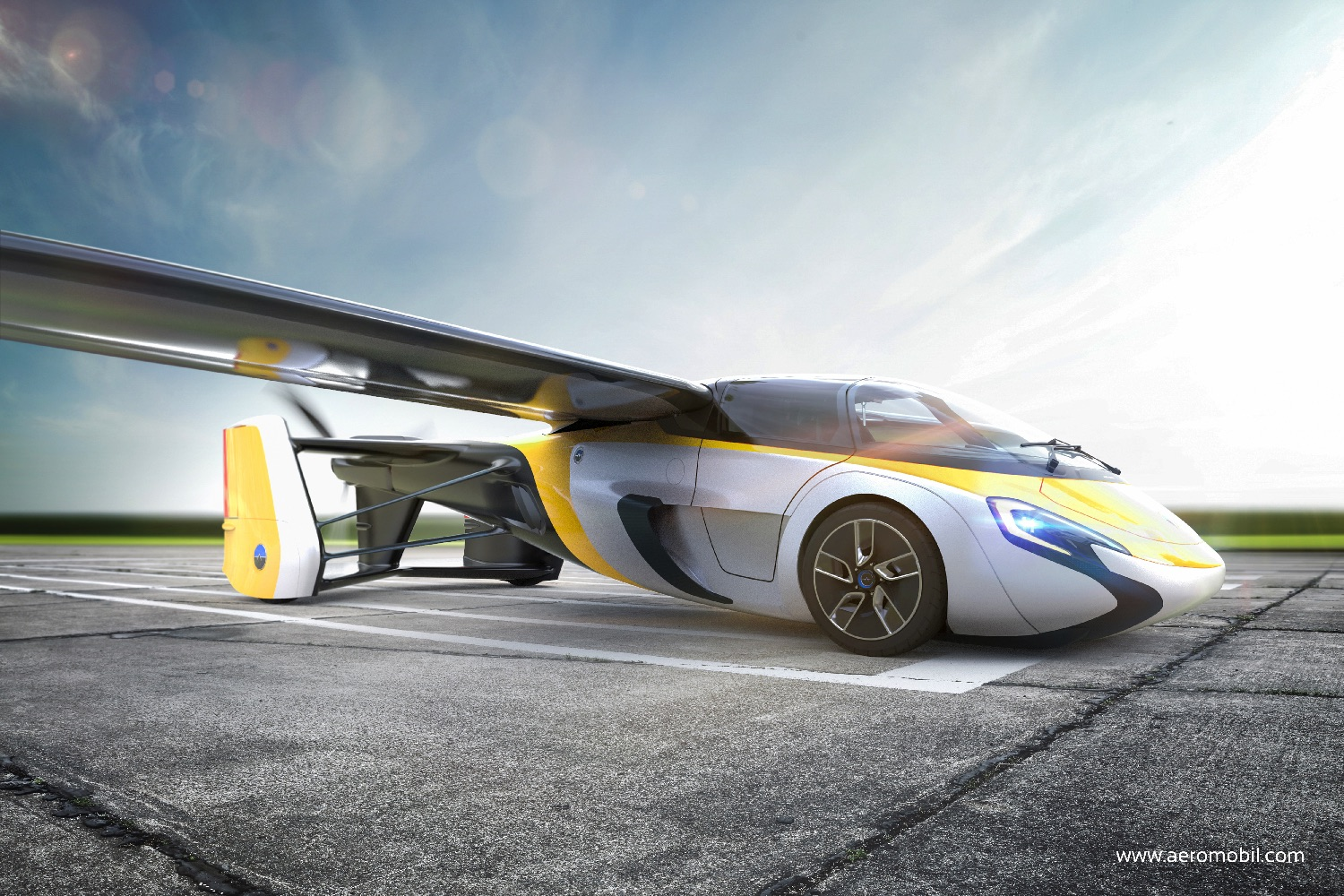 AeroMobil unveils new images of its new flying vehicle