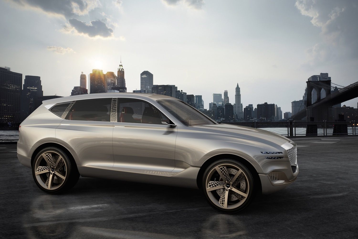 Genesis' hydrogen fuel cell concept at New York Show