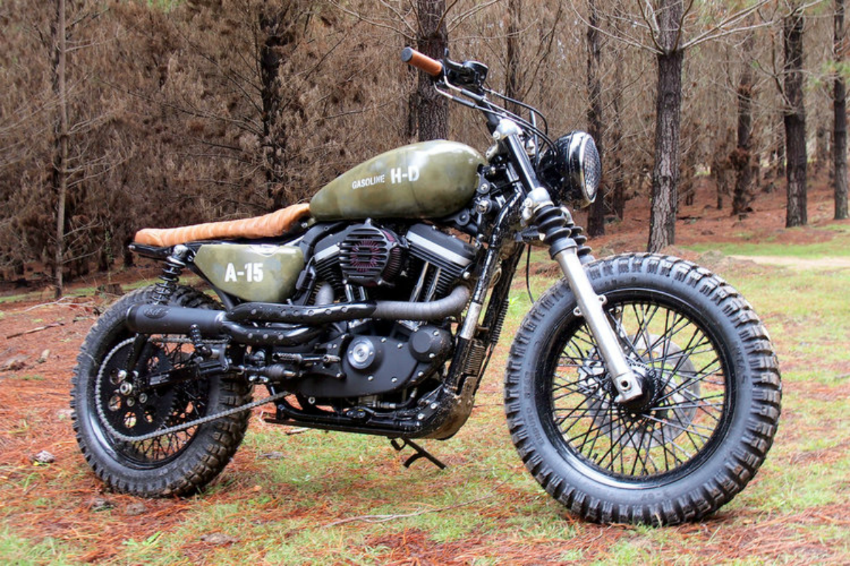 Bike customizers prove a harley can be morphed into a for Harley davidson motor co