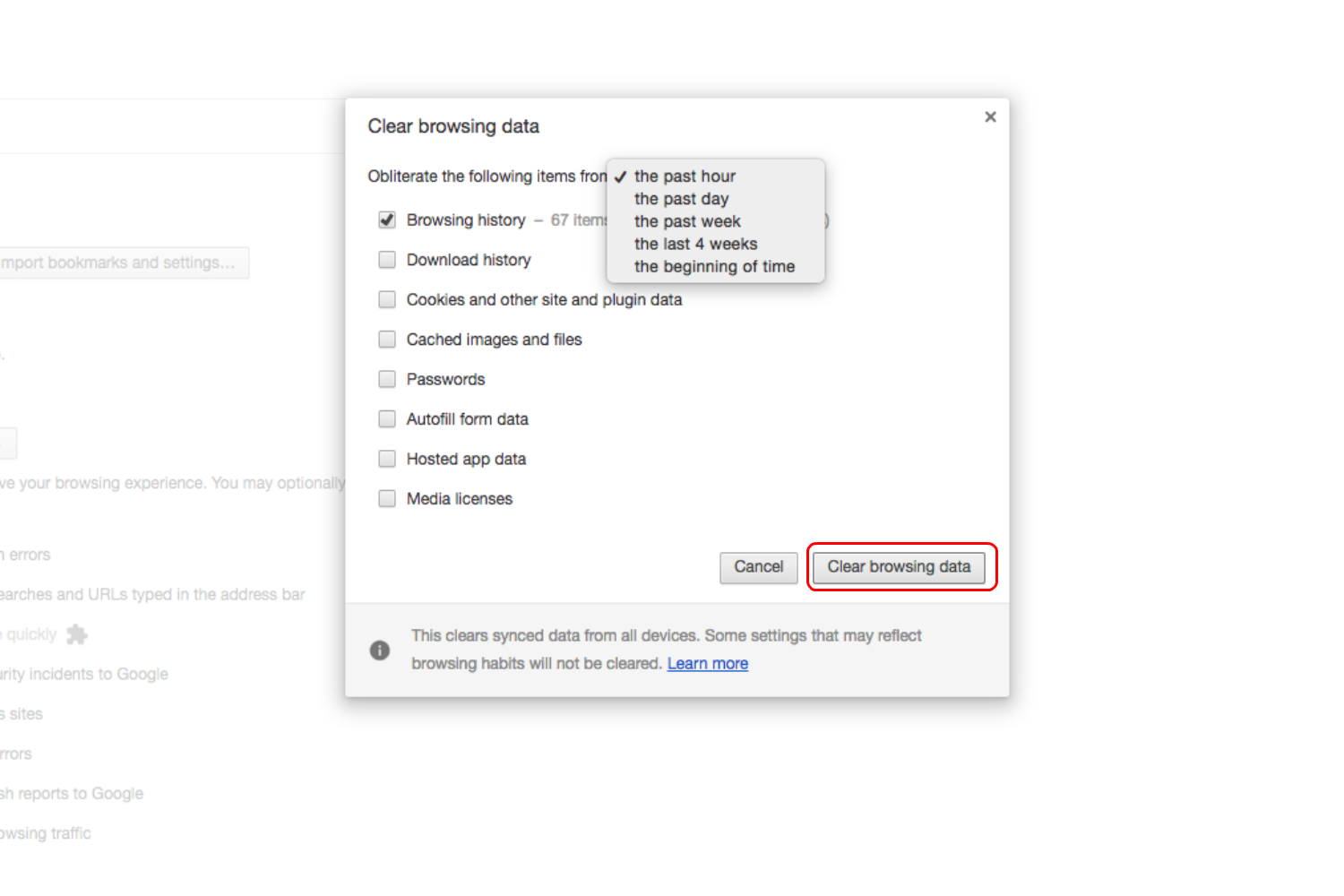 How To Clear Browser History Chrome Step 4