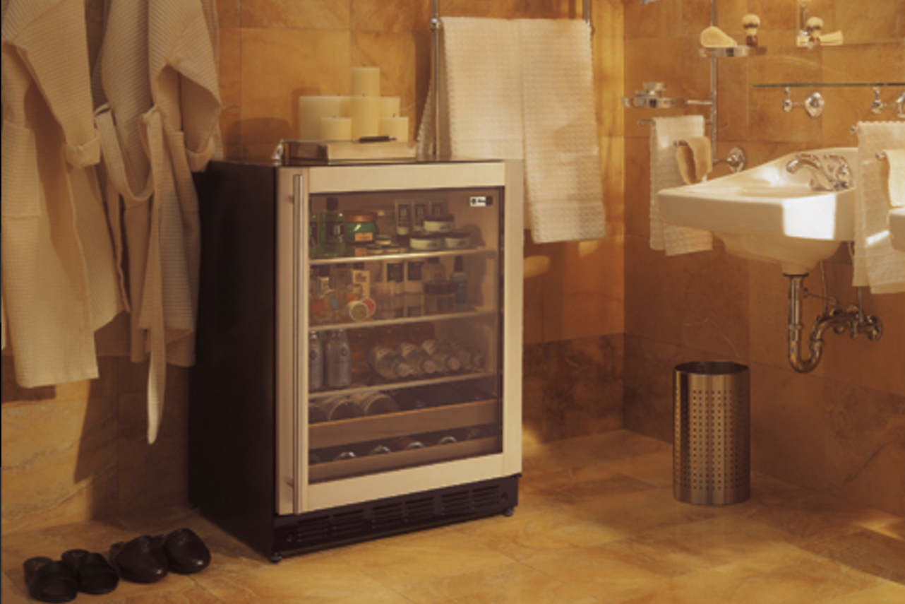 A freezer in the bedroom closet and more weird places to for Restroom appliances