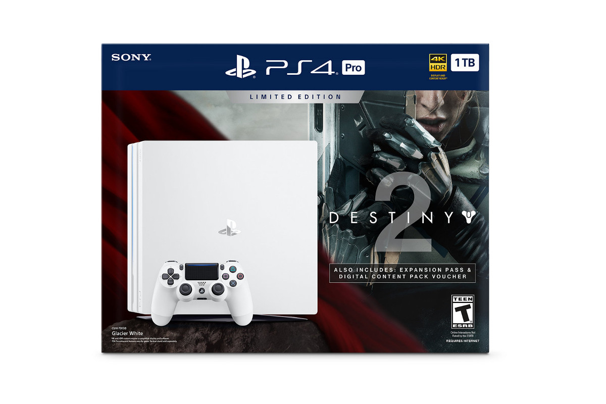 limited edition destiny 2 ps4 pro bundle comes with new. Black Bedroom Furniture Sets. Home Design Ideas