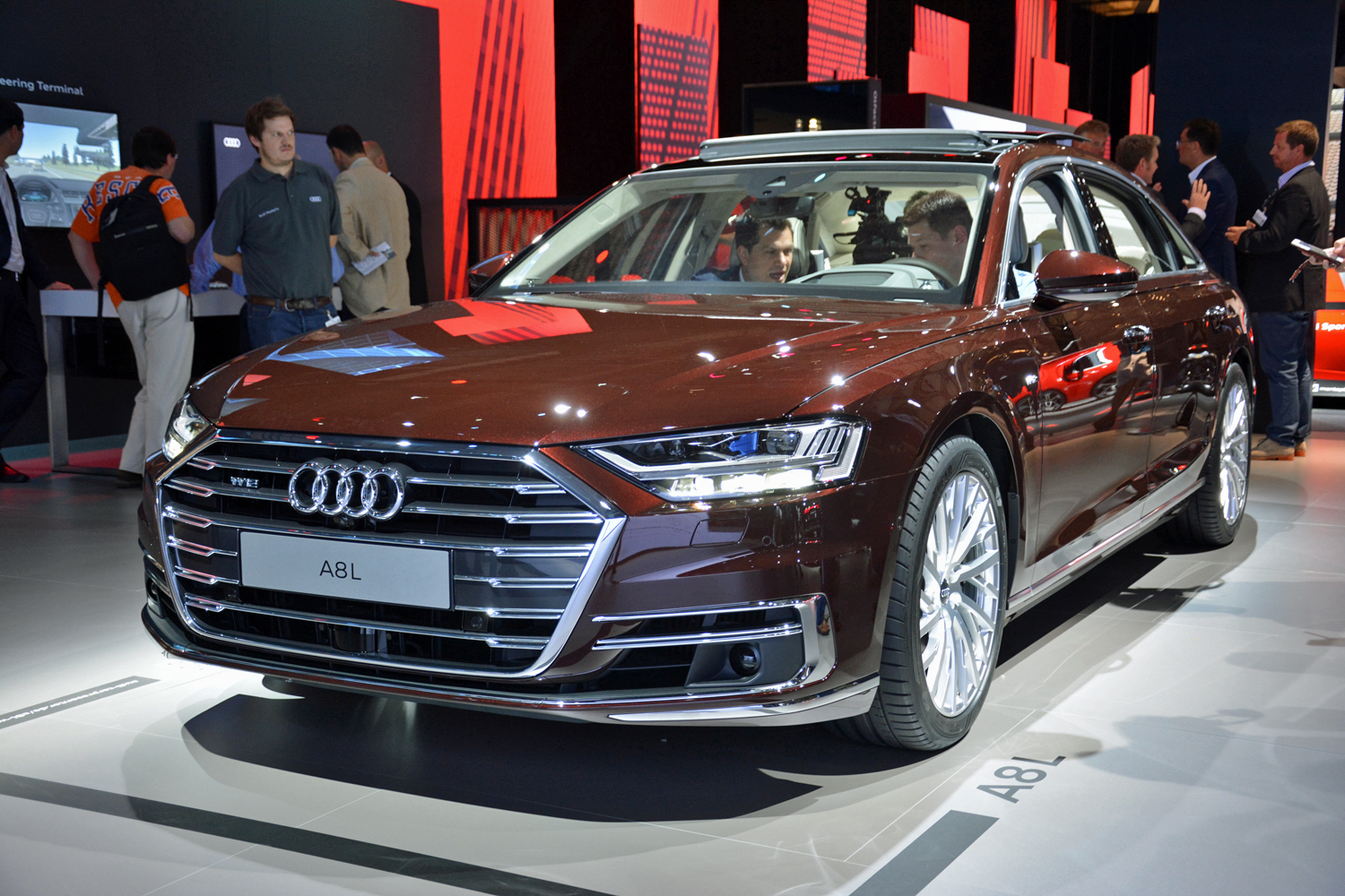 free at last audi s electrified a8 l is ready to cut the cord. Black Bedroom Furniture Sets. Home Design Ideas