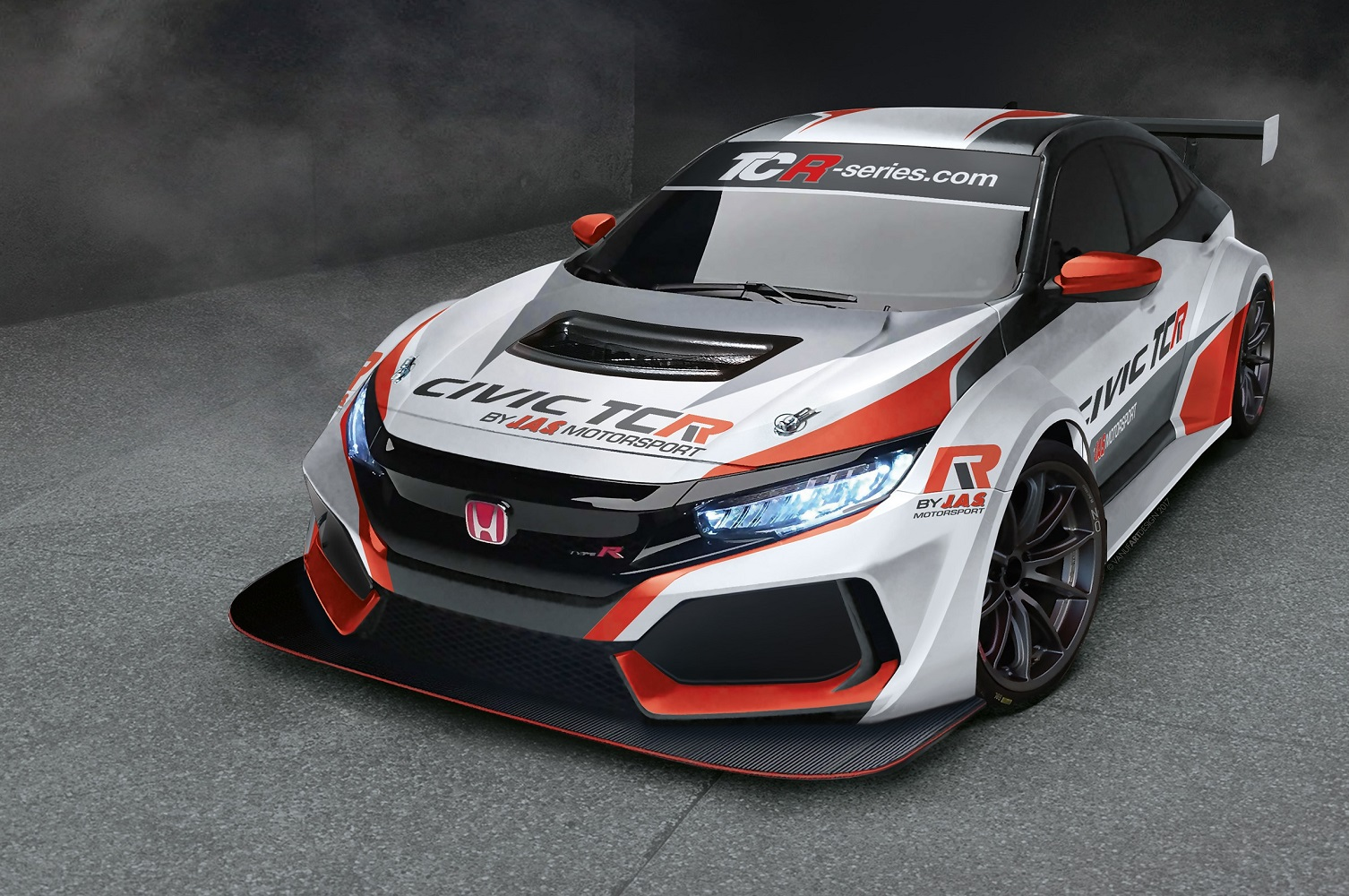 a low ultra wide honda civic type r will race globally. Black Bedroom Furniture Sets. Home Design Ideas