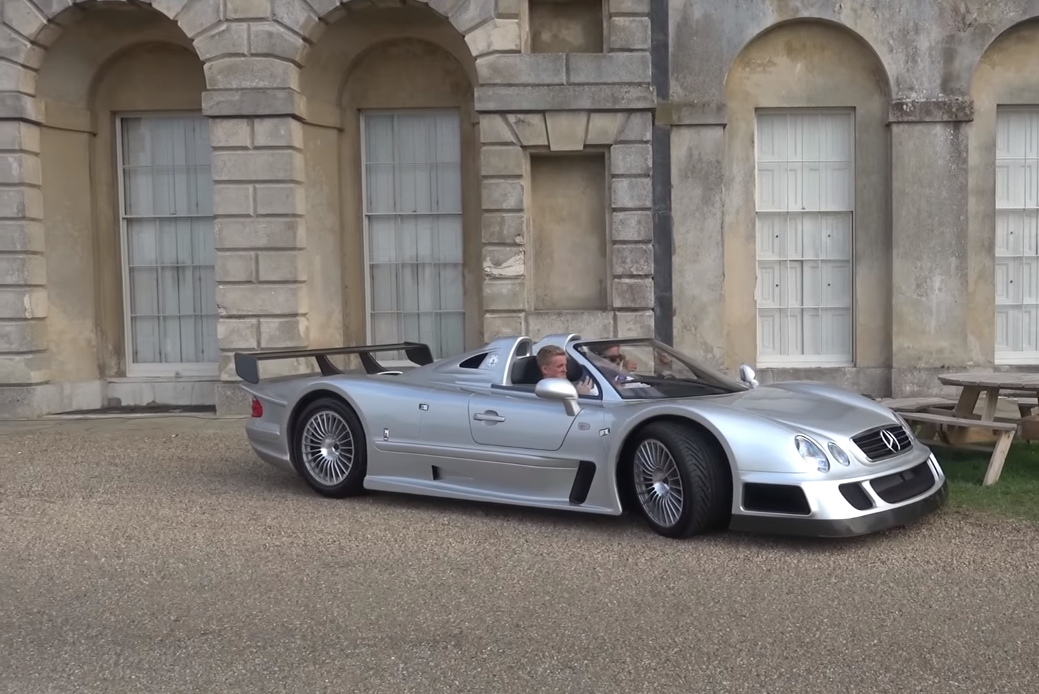 an enthusiast drives his 2 million mercedes benz clk gtr. Black Bedroom Furniture Sets. Home Design Ideas