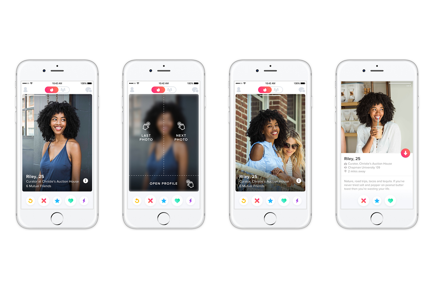 You can now swipe left and right on the newly redesigned