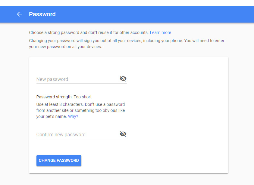 how to use rsat to change password