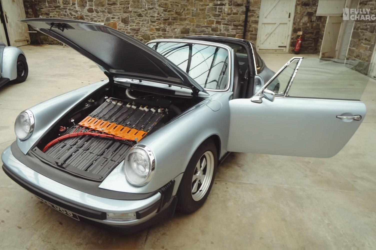 A Tesla Battery Pack Mutes This Classic Porsche S Flat Six Engine