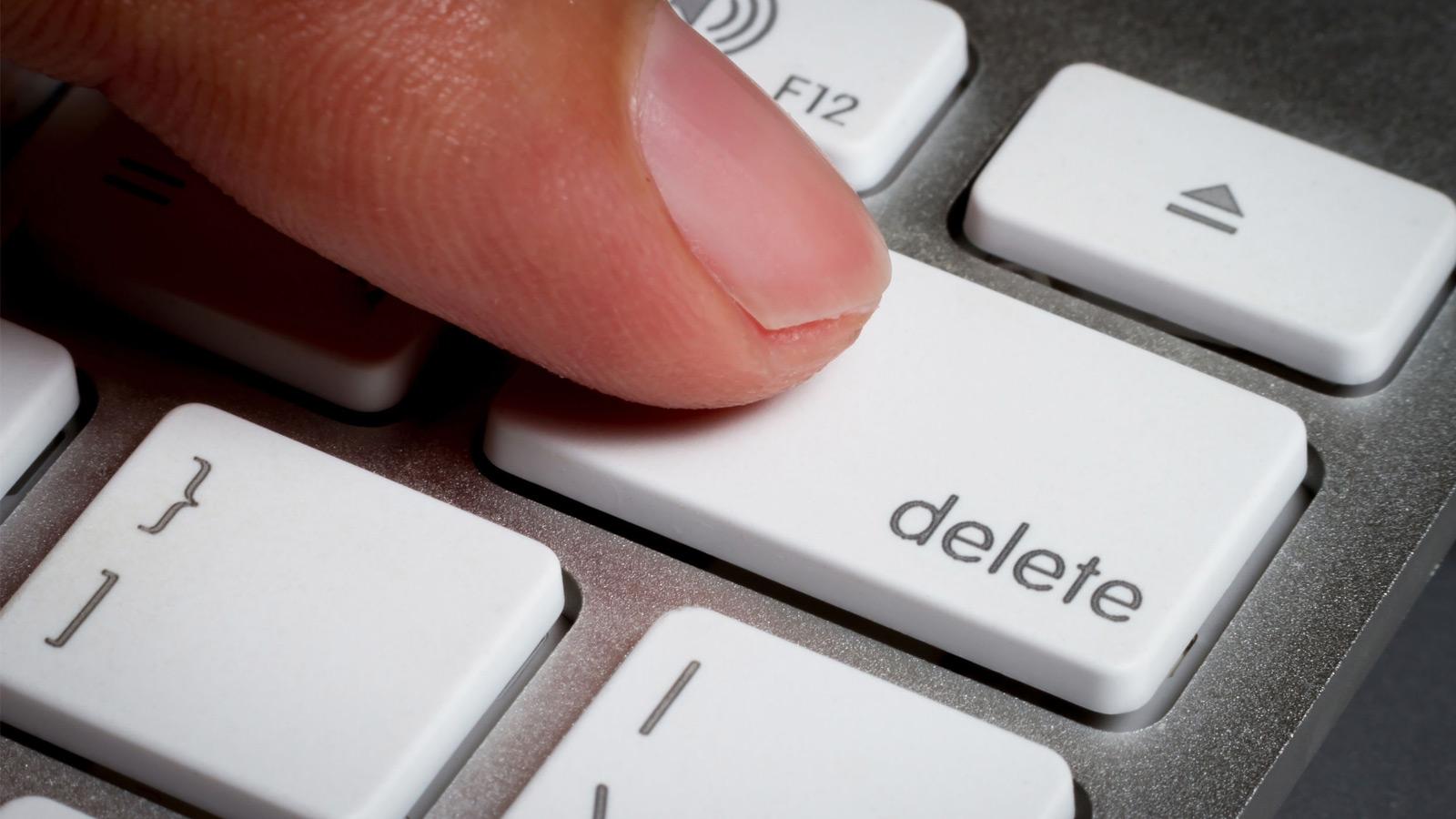 I delete