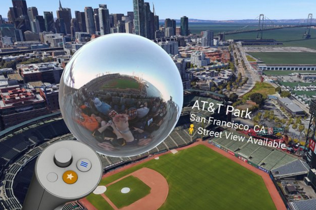google earth vr now lets you explore street view imagery from 85 countries. Black Bedroom Furniture Sets. Home Design Ideas