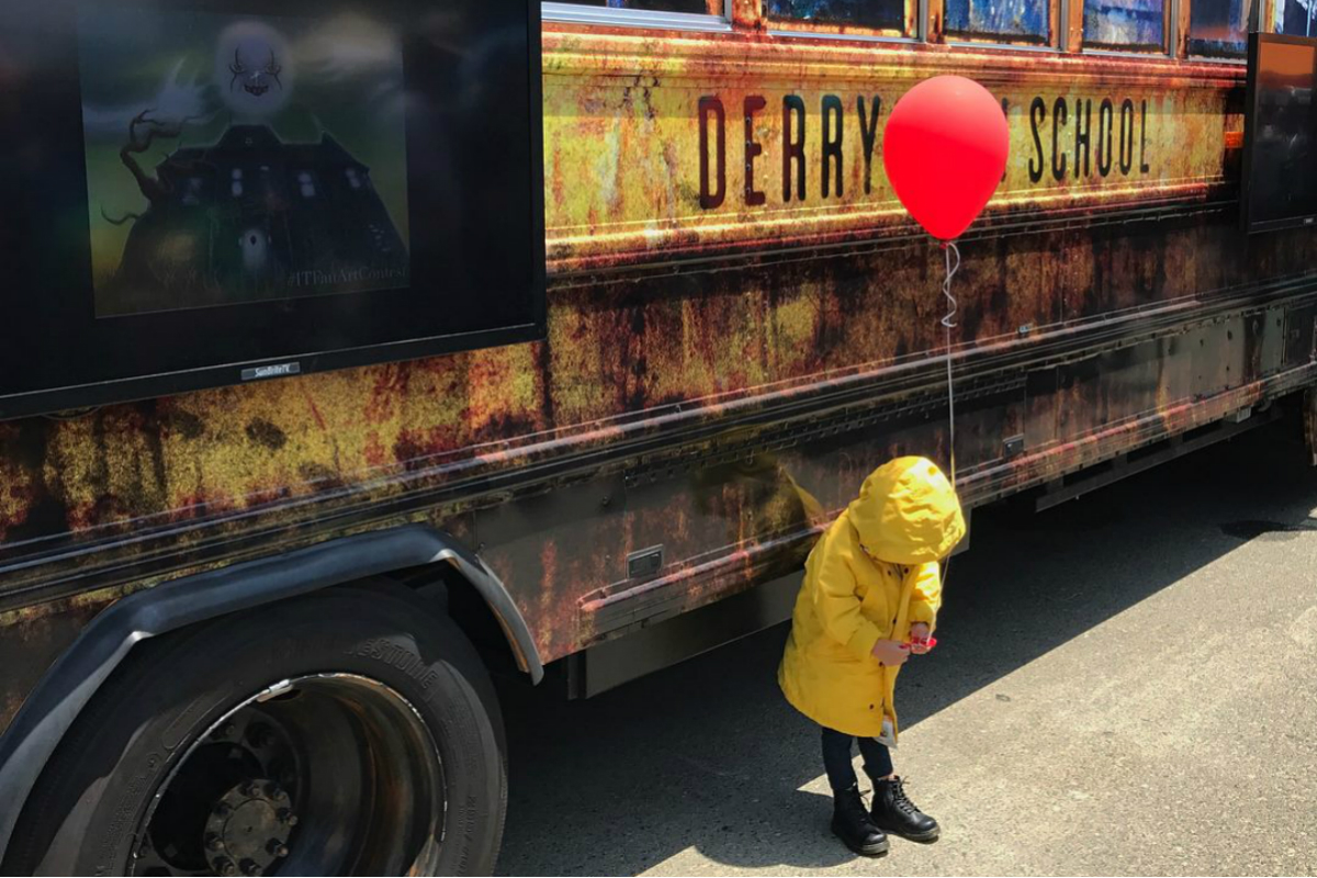 Boy's makeover into Pennywise the clown leaves people scared