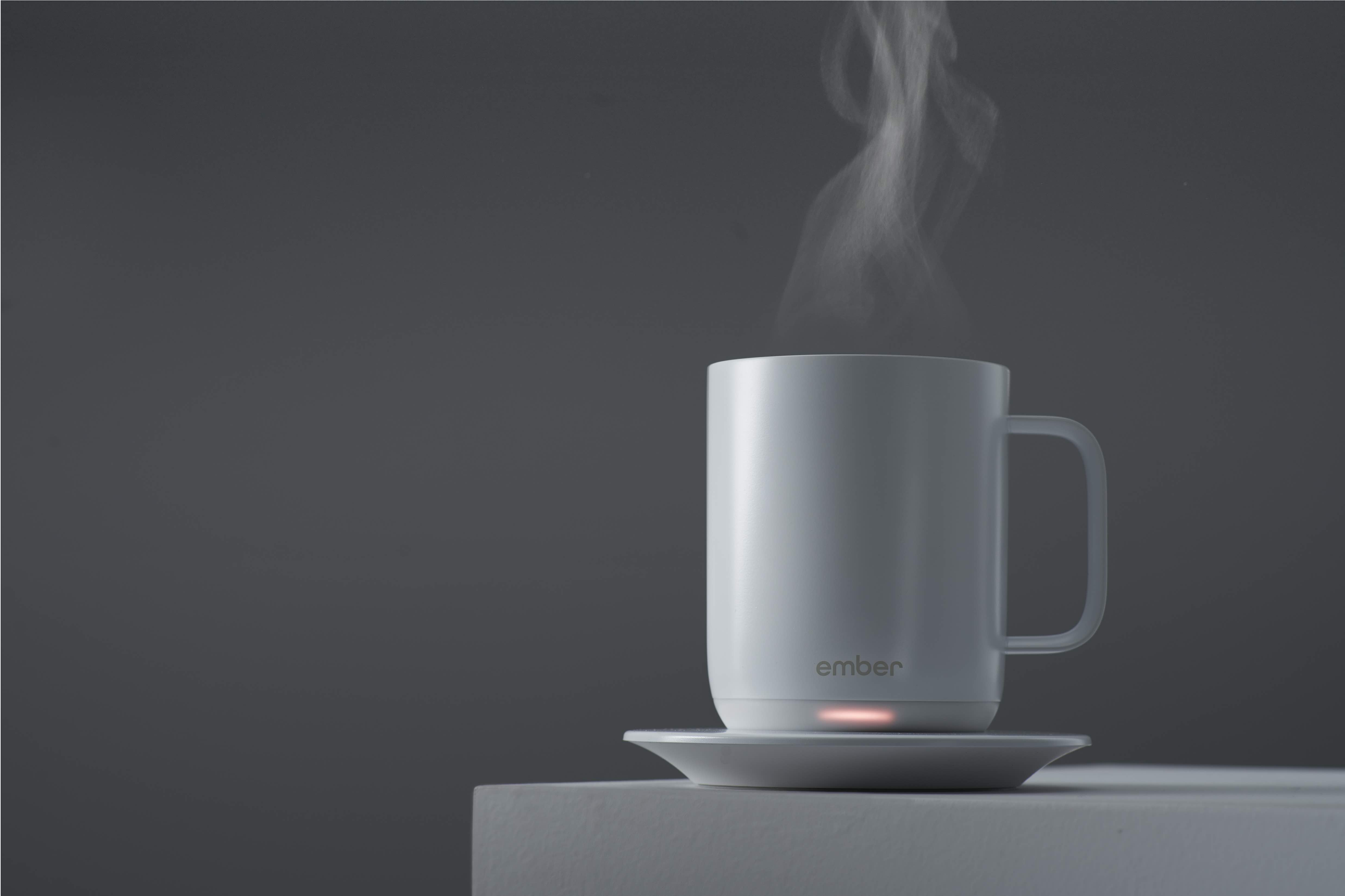 Elegant Ember Ceramic Mug Keeps Your Coffee Hot Through