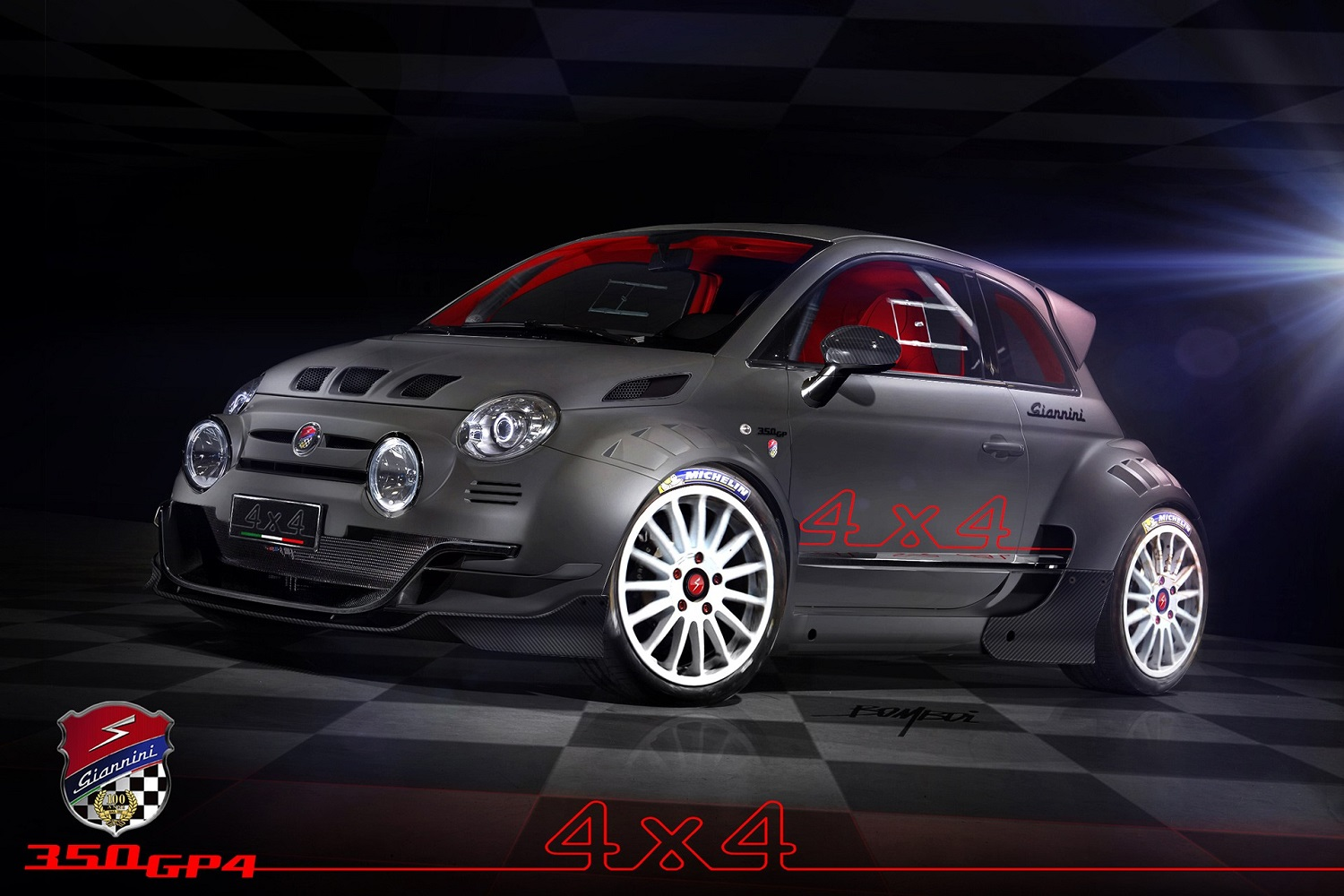 this all wheel drive 350hp fiat 500 is a demogorgon on. Black Bedroom Furniture Sets. Home Design Ideas