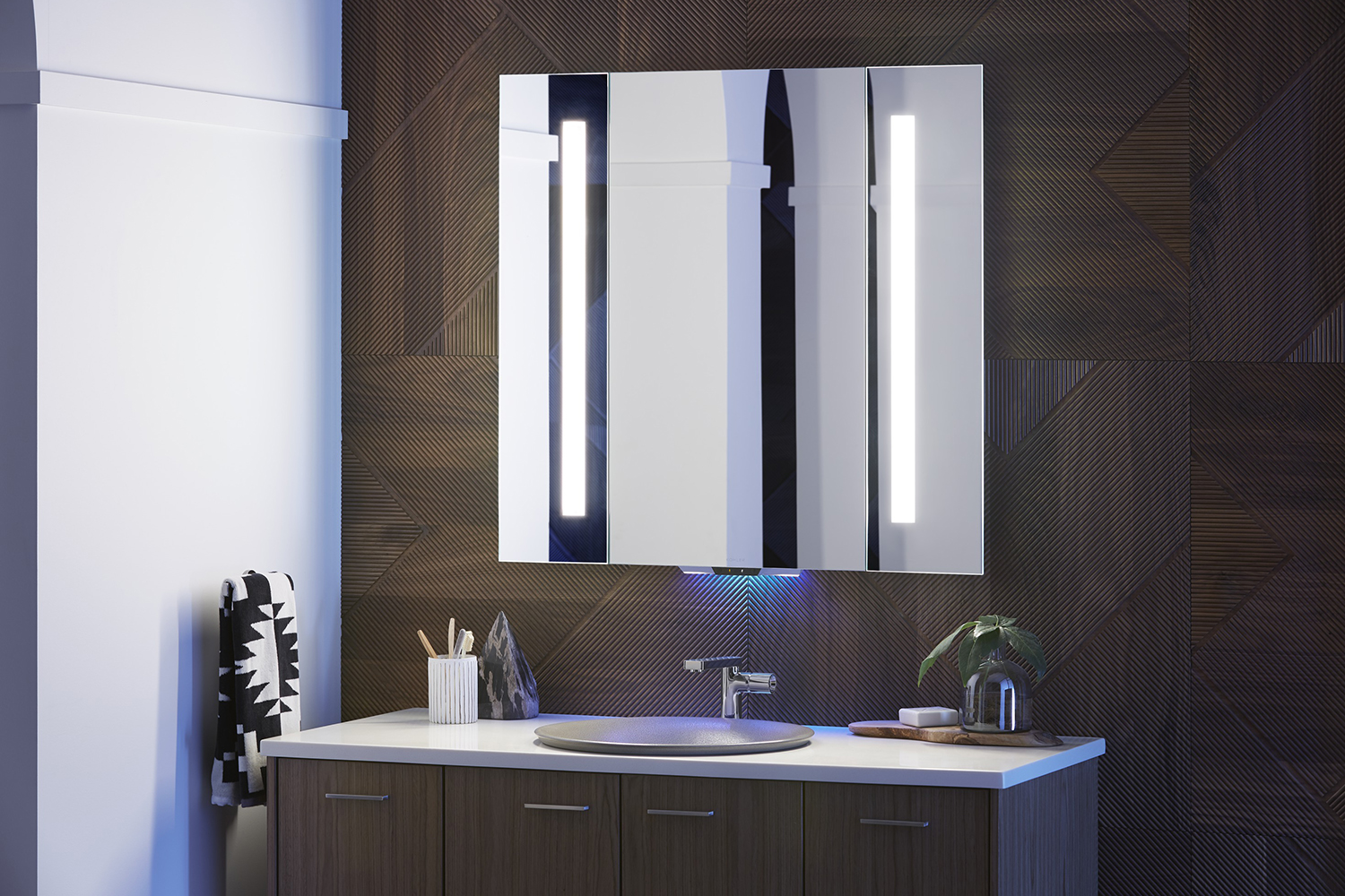 Verdera an alexa enabled mirror from kohler makes your for Smart bathroom