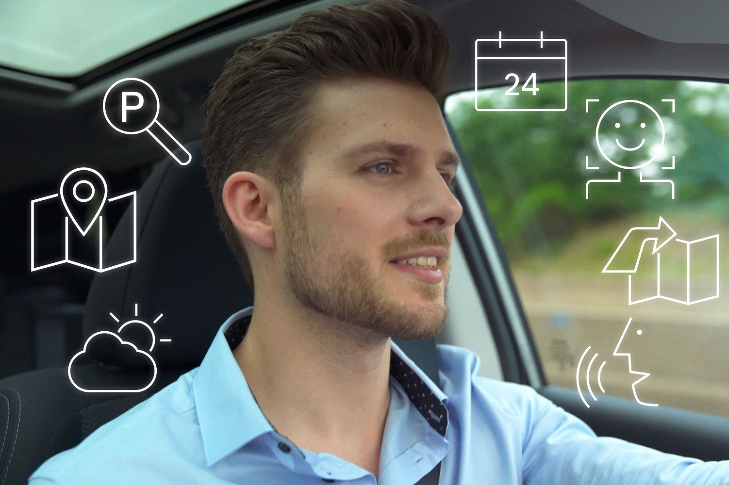stop shouting orders   dashboard  boschs   car voice assistant