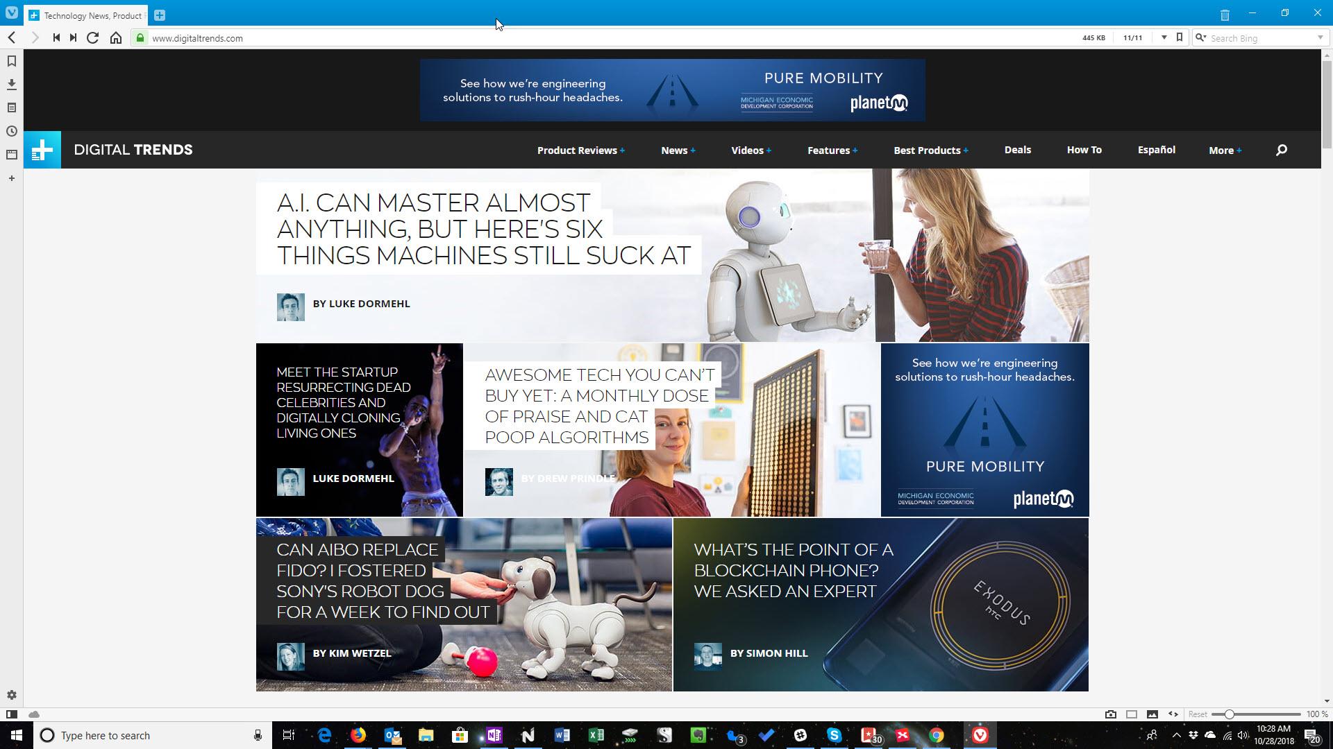 web browser market share 2019
