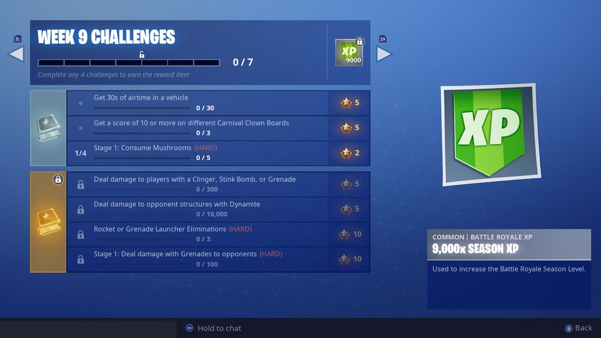 fortnite week 9 challenges find three carnival clown boards