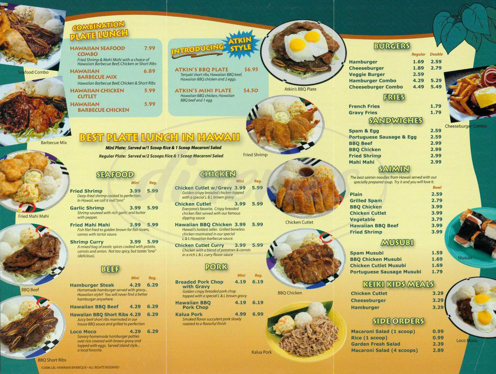 Da Hawaiian Kitchen Menu Prices