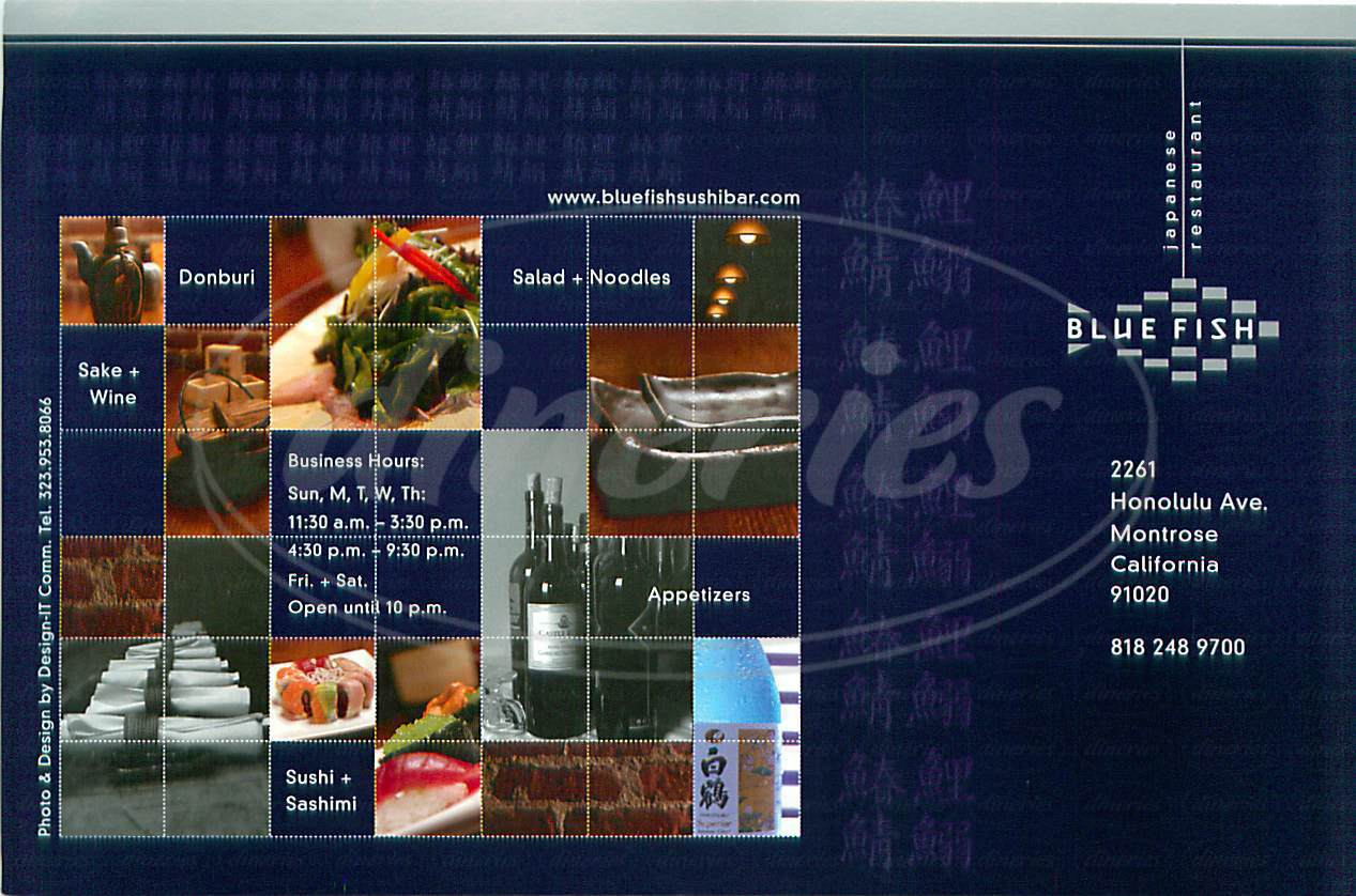 Blue Fish Japanese Restaurant Montrose