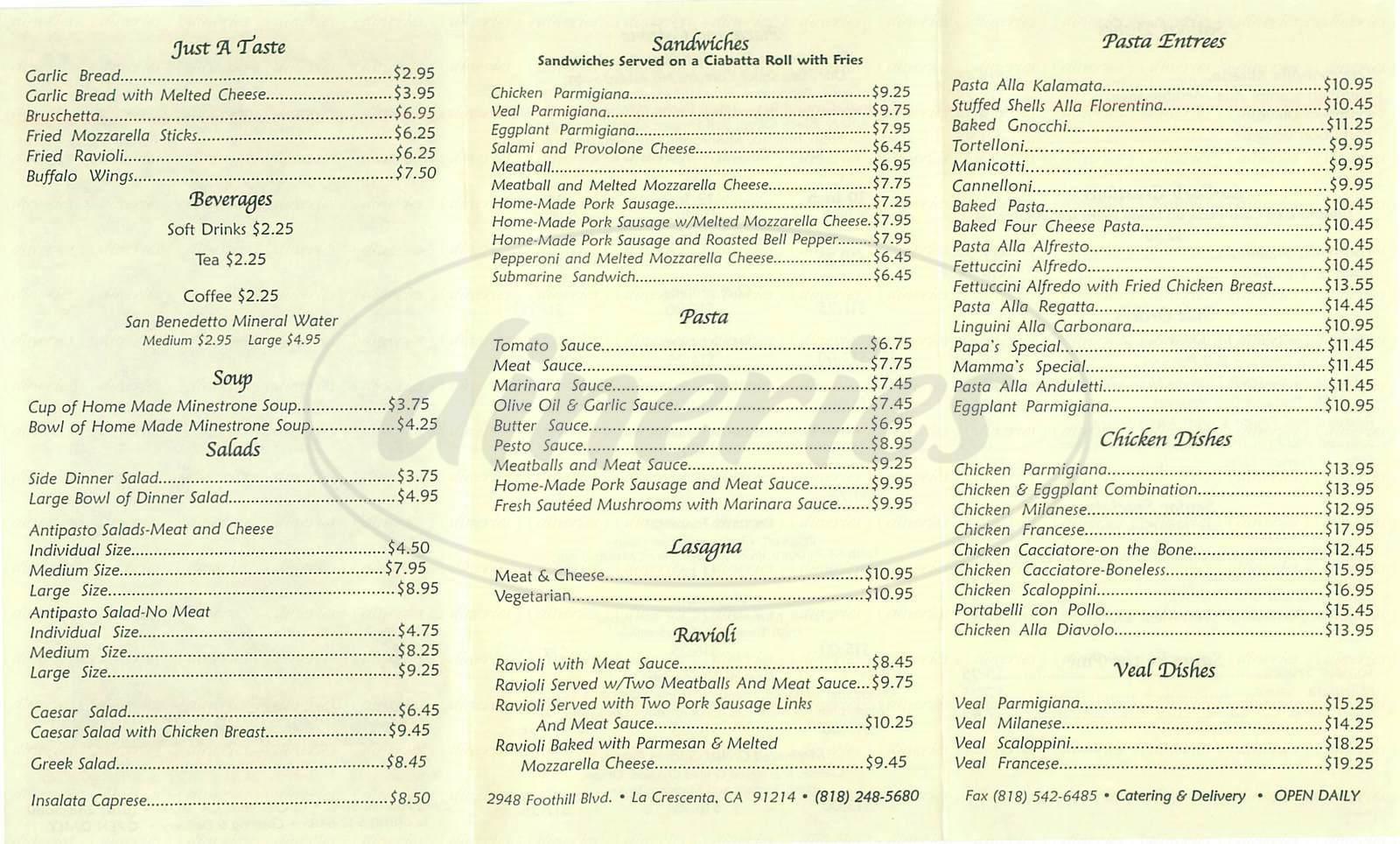 Italian menu by...
