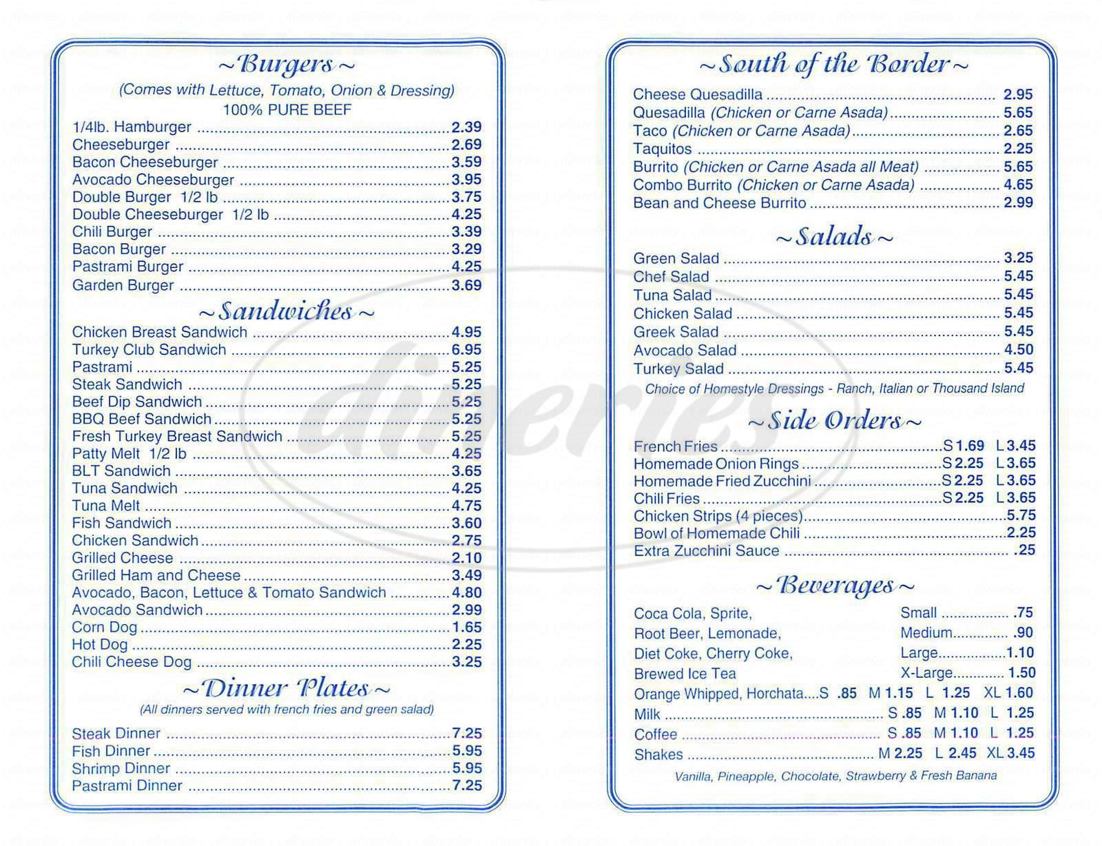 Jim's Famous Charbroiled Burgers Menu - Monrovia - Dineries