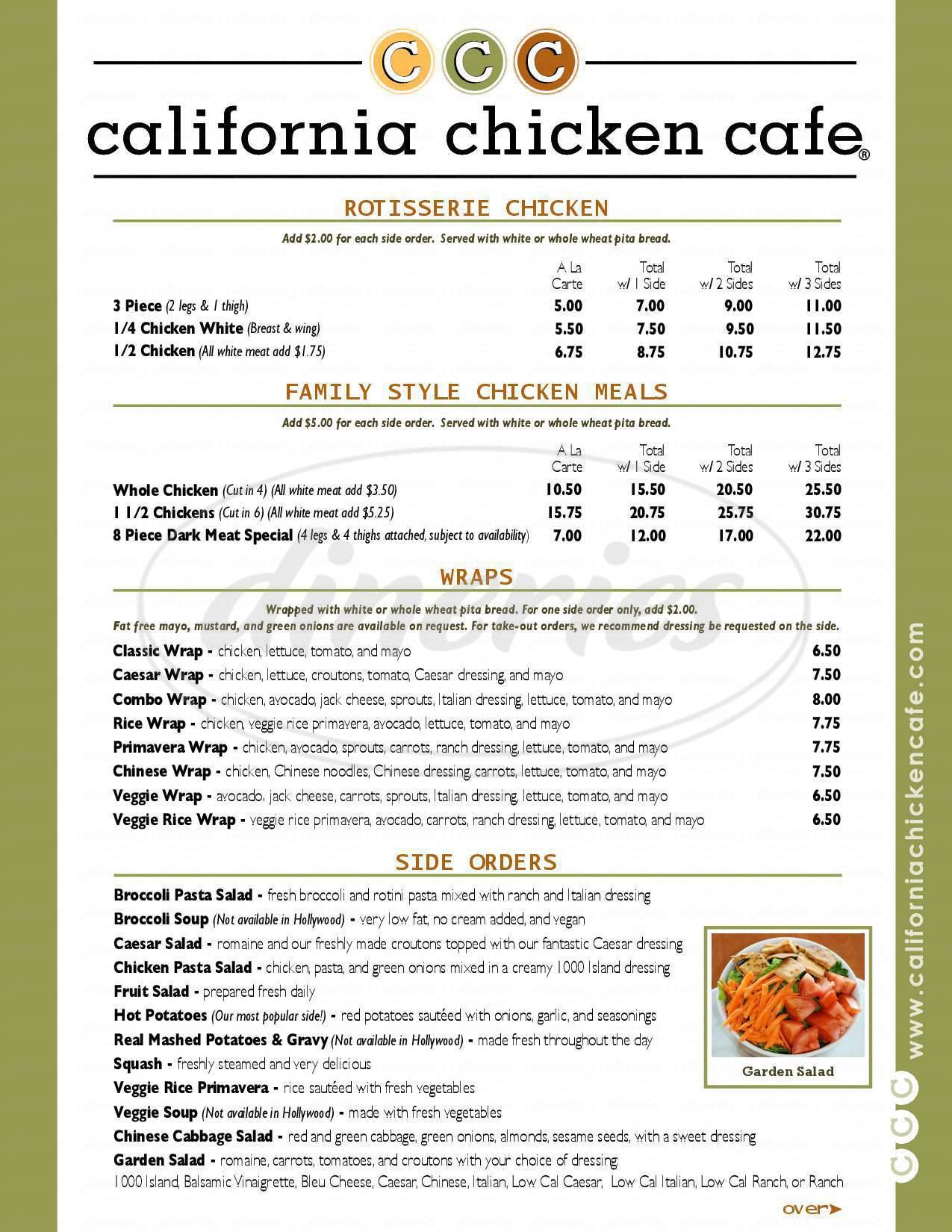 Restaurant Menu Woodland Hills Ca